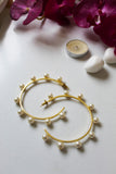 18K Gold Plated Sursura Pearl Hoops