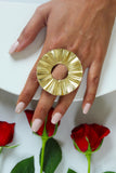 18K Gold Plated Sunflower Ring