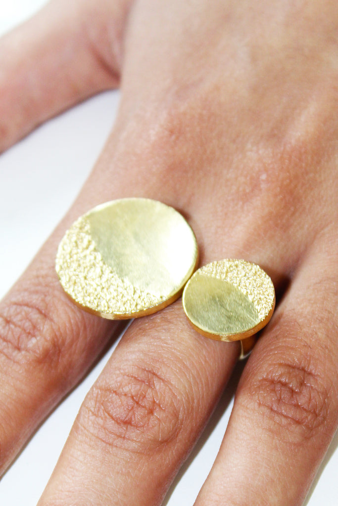 18K Gold Plated Dusk to Dawn Ring
