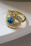 18K Gold Plated Safiye Evil Eye Ring