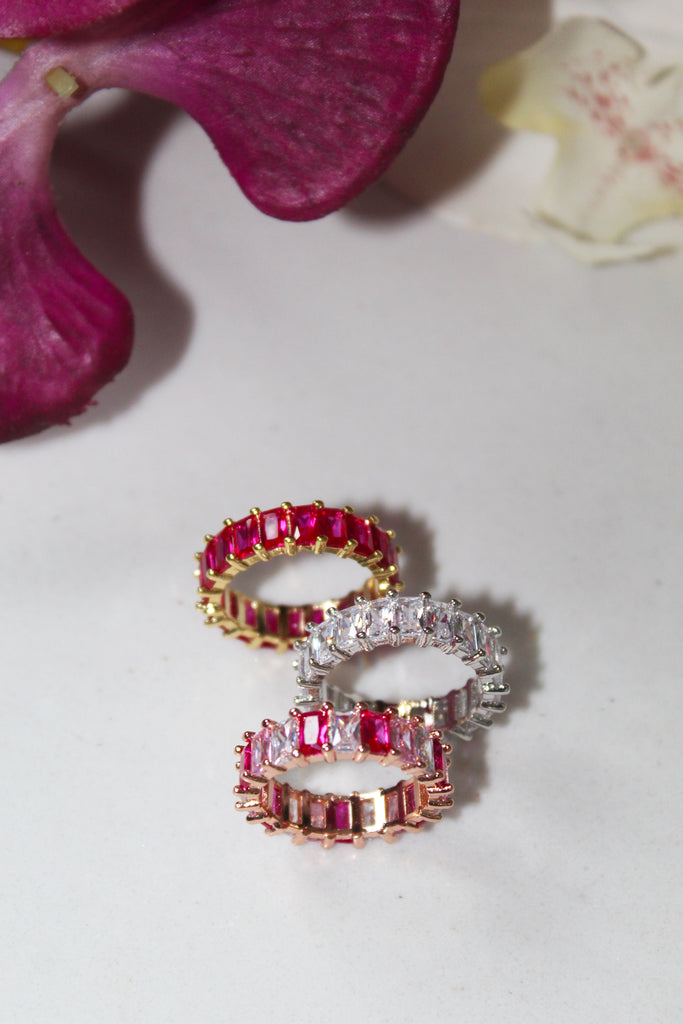 18K Gold Plated Hot Pink Eternity Band