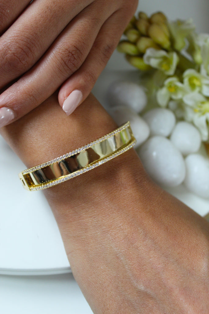 18K Gold Plated Lara Bangle