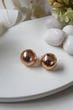 Mini Rose Gold Textured Dome Earrings