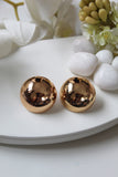 Extra - Large Rose Gold Dome Earrings