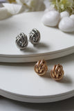 Golden Knotted Rope Studs