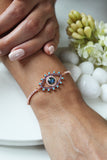 18K Rose Gold Plated Evil Eye Zina Bracelet