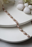 18K Rose Gold Plated Pearl Poppy Bracelet