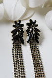 Black Crystal Nur Earrings