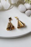 Yellow Gold Plated Hanging Bell Earrings