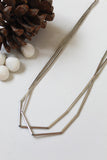 White Gold Long Facet Necklace