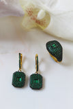 18K Gold Plated Green Lustre Earrings