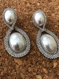 White Gold Pearls Of Grace Pearl Drop Earrings