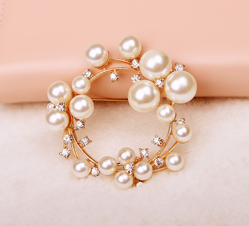 18K Gold Plated Bubble Pearl Brooch