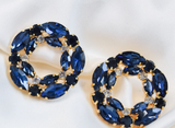 Blue Crystal Malhar Earrings