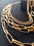 Yellow Gold Sicily 5 Layer Necklace