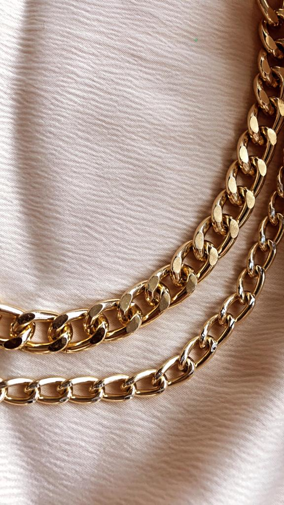 Gold Chloe II Chain Necklace