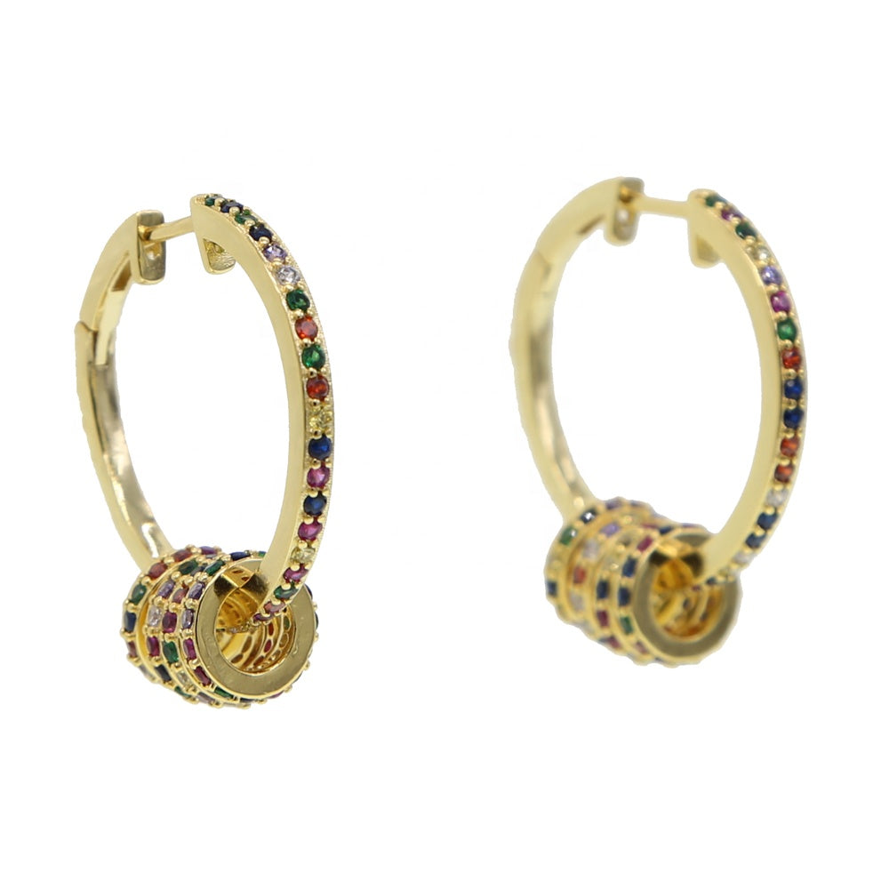 18K Gold Plated Multi Ring Hoops
