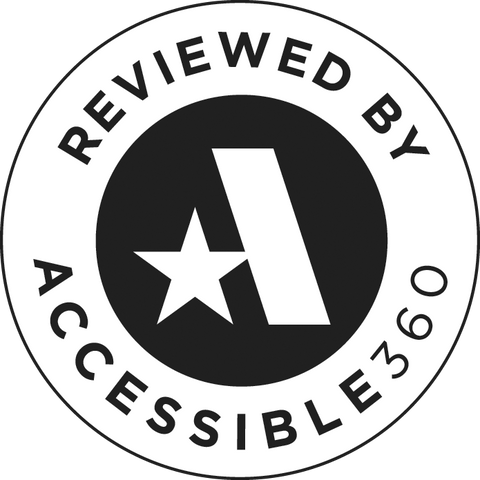 Reviewed by Accessibility 360 - Badge