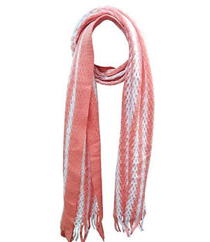 Knitted Wool Warm Neck Scarf Stole Mufflers Scarves for Men and Women Unisex (Peach)