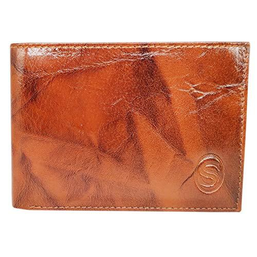 Men's Stylish PU Leather Wallet (Brown) - Bagaholics Gift