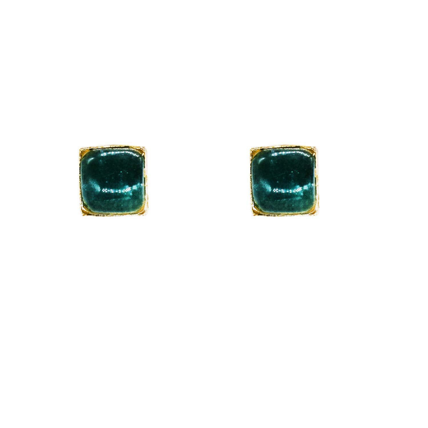Stone Studded Square Shape Stud Earrings - Bagaholics Gift