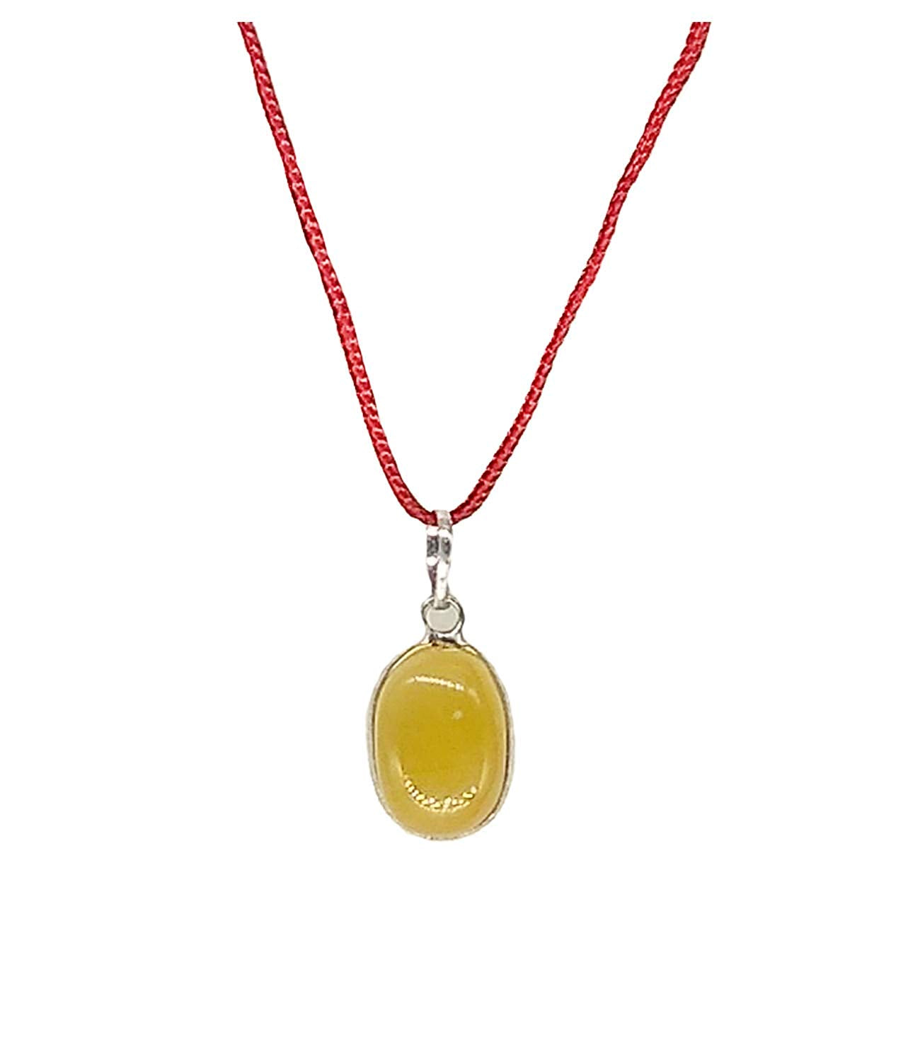 Natural Yellow Sapphire Stone Locket Gemstone Pendant for Men and Women - Bagaholics Gift