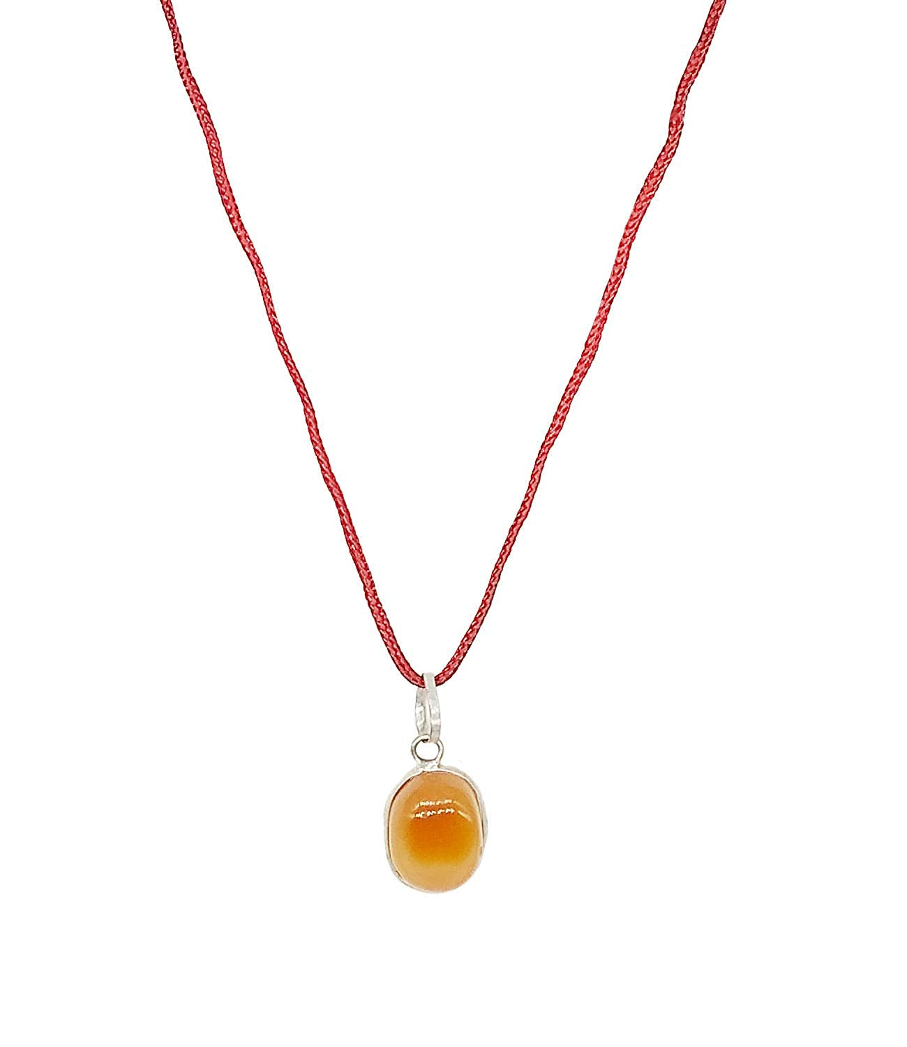 Orange Pendant/Locket Gemstone for Men and Women - Bagaholics Gift