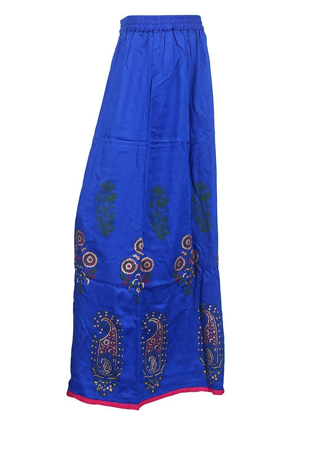 Poly Crepe Palazzo with Short Style Inner Lining (Blue)