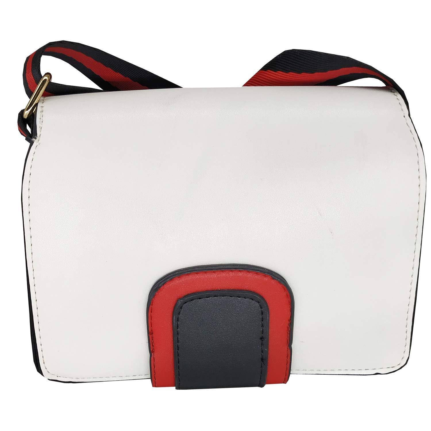 Box Type Girls Sling Bag Side Bag Cross Body Bag (White) - Bagaholics Gift