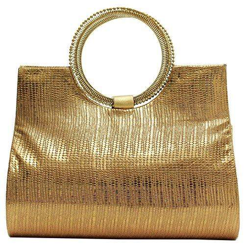 Ethnic Ladies Sling Clutches Side Bag  (Dark Gold) - Bagaholics Gift