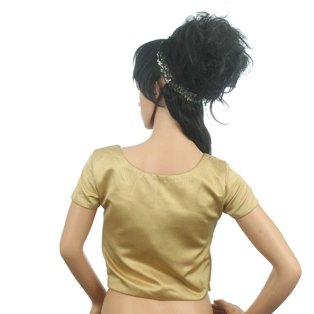 Readymade Designer Pain/Solid Padded Saree Blouse (Beige) - Bagaholics Gift