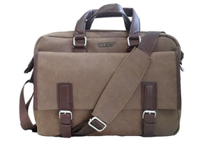 Canvas Office Bag Laptop Bag (Brown) - Bagaholics Gift