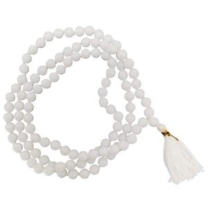 Natural Gems Pearls Beads Natural Stones Hakik Mala with 108+1 Beads of 6 mm - Bagaholics Gift