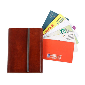 PU Tan Card Holder Small