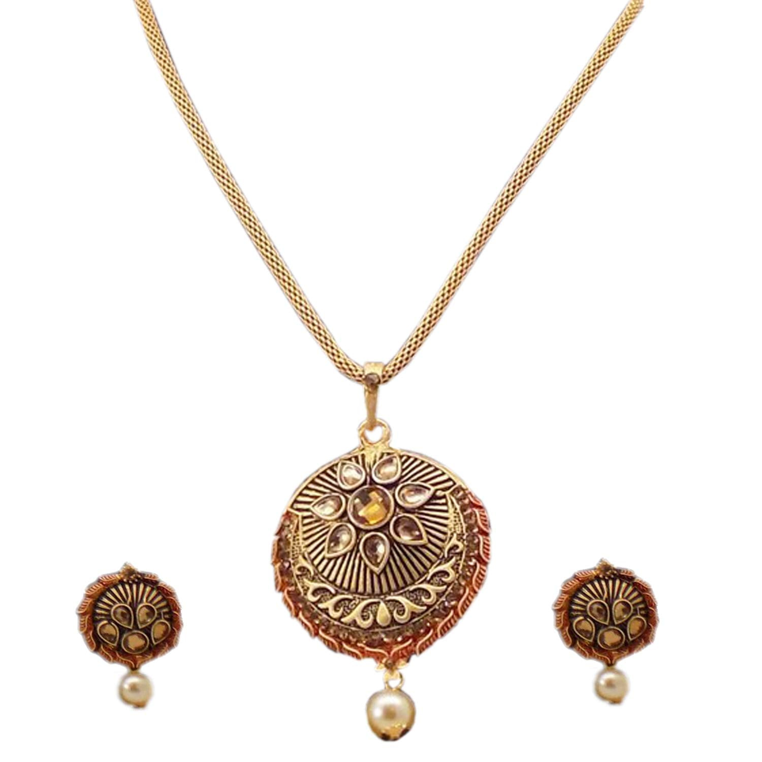 Pendant Necklace Set / Jewelry Set with Earring - Bagaholics Gift