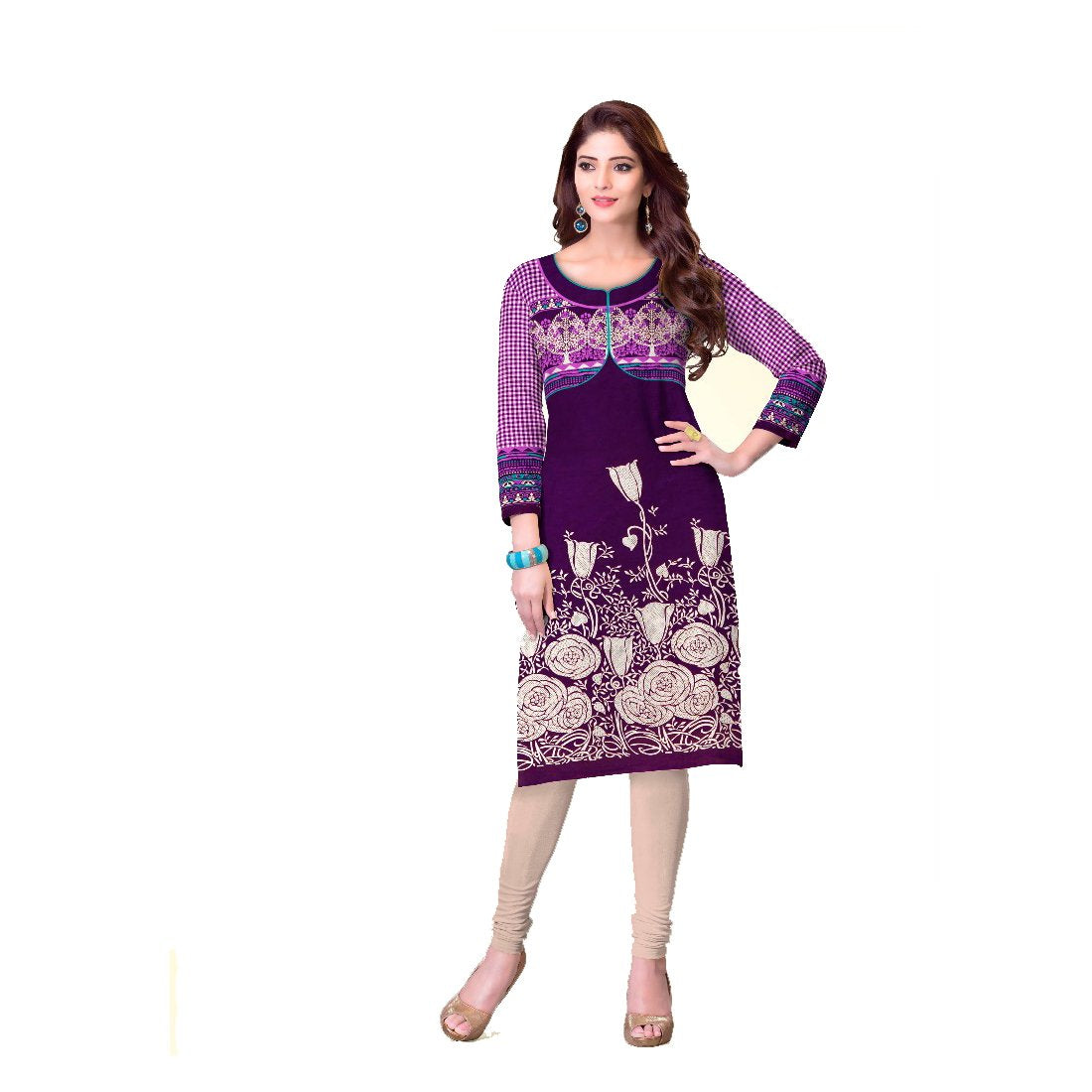 Women's Cotton Dress Material (SRKR4 Multicolour, Free Size) - Bagaholics Gift