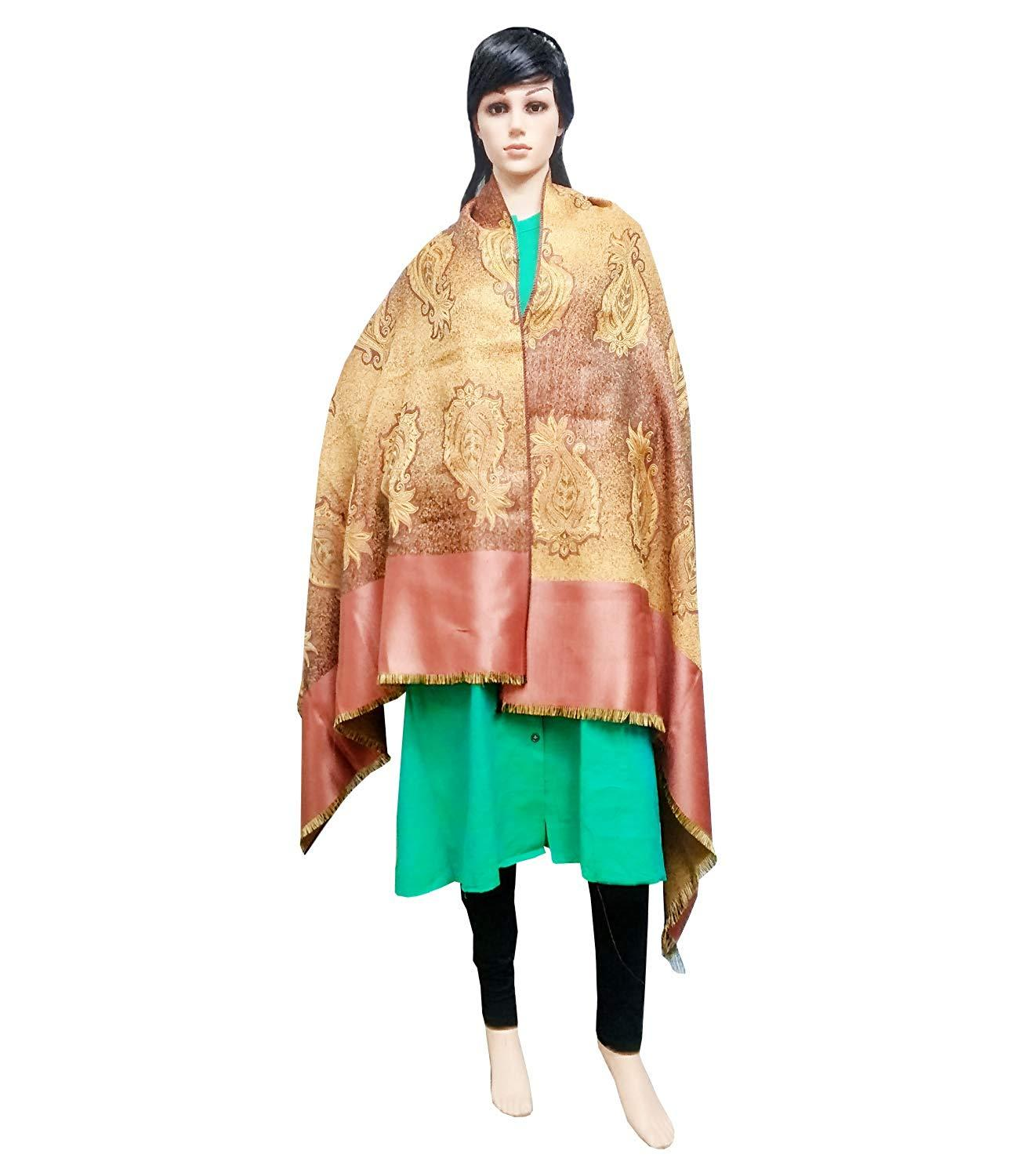 Viscose Kashmiri Shawl Jacquard Designs Warm and Soft (76 x 39 inches) - Bagaholics Gift