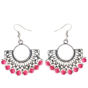 Oxidized Silver Chandbali Earrings - Bagaholics Gift