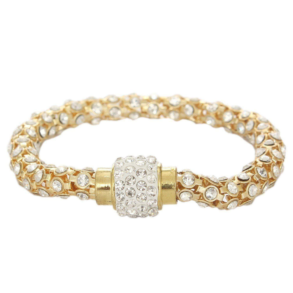 Diamond Studded Golden Bracelet - Bagaholics Gift