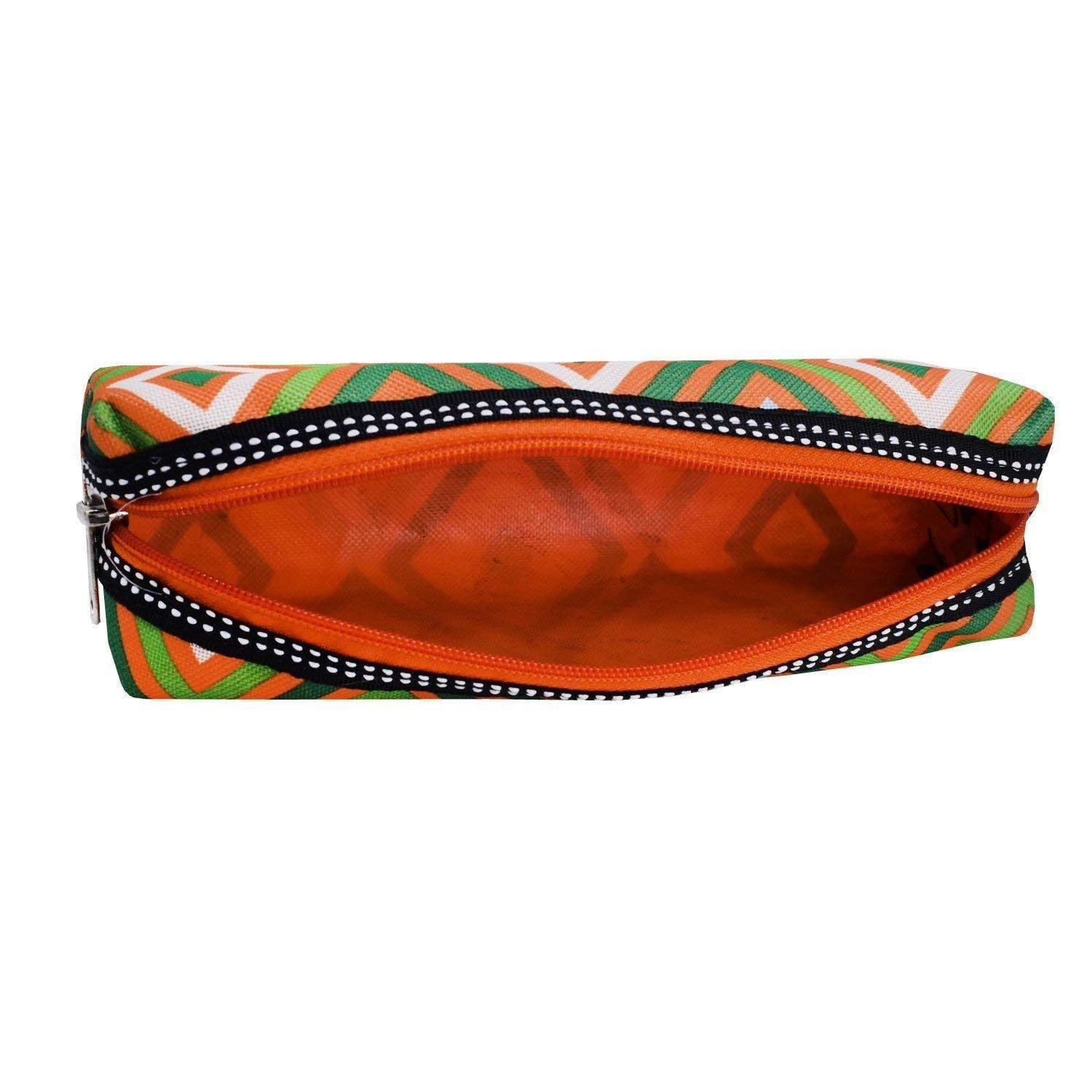 Multi Purpose Stationery Pouch Pencil Pouch (Orange) - Bagaholics Gift