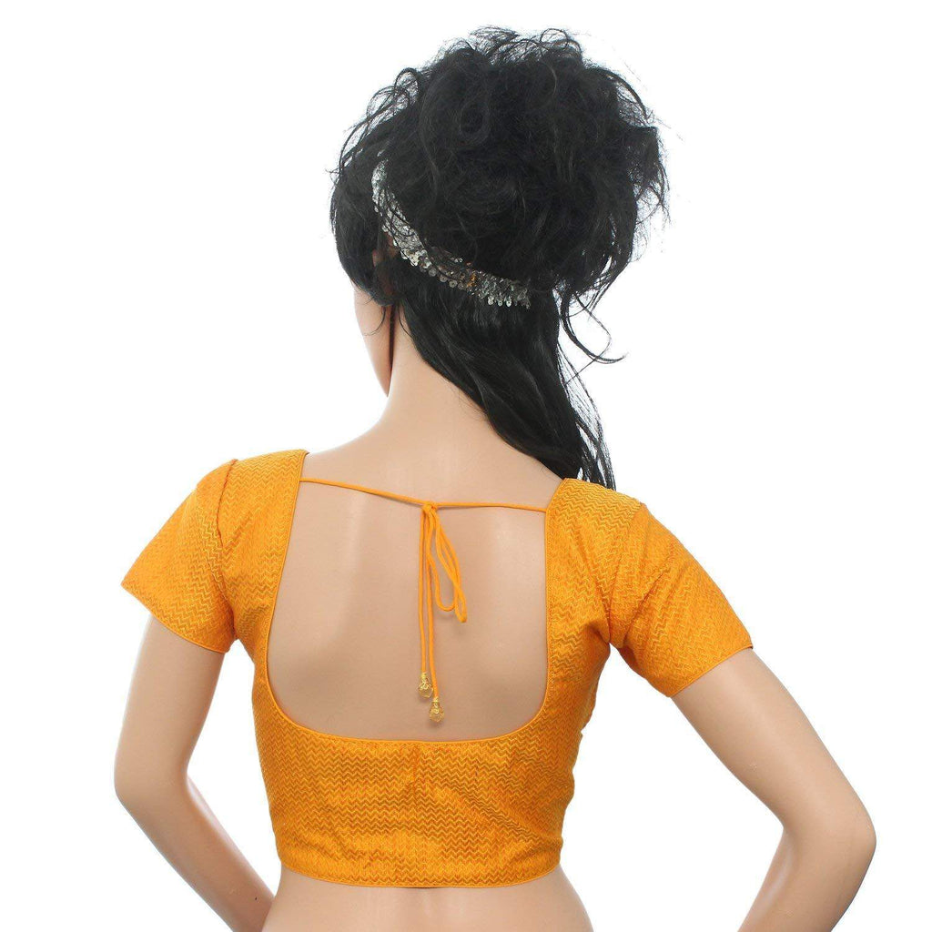 Readymade Designer Saree Blouse For Women's Yellow - Bagaholics Gift