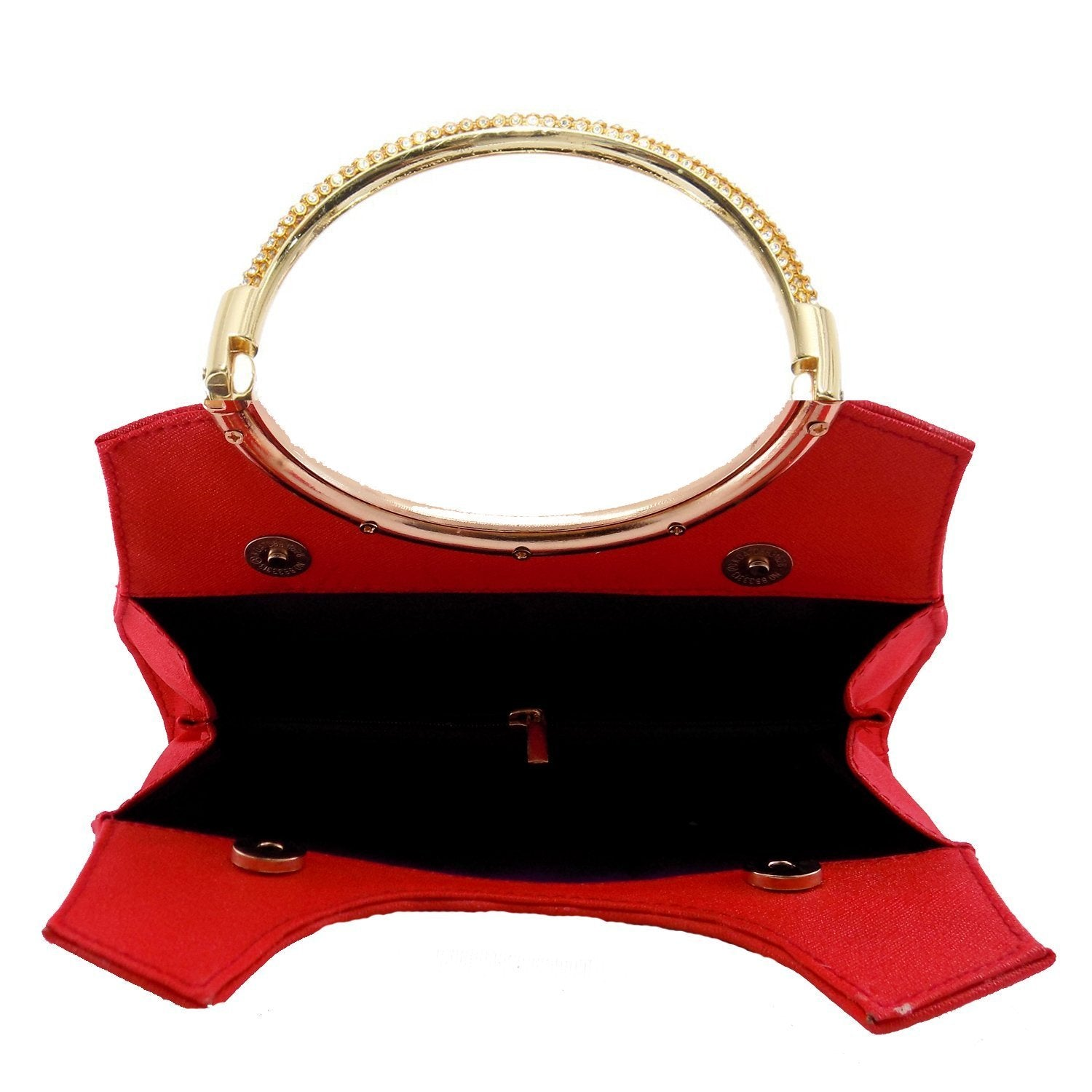 Diamond Studded Party wear Clutch (Red) - Bagaholics Gift