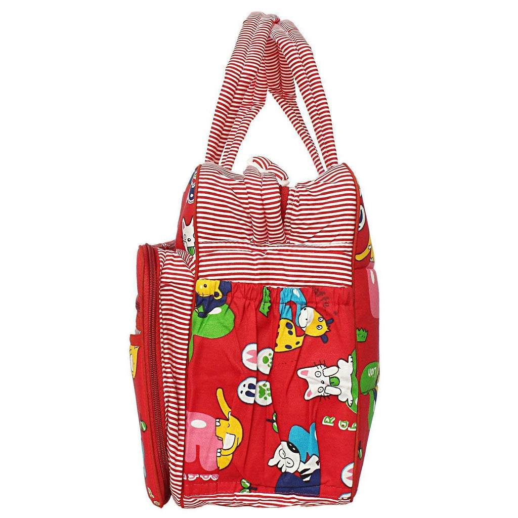 Printed Baby bag Nursery and Diaper Bag (Red) - Bagaholics Gift