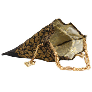 Ethnic Raw Silk and Jute Potli Bag Batwa Pouch - Bagaholics Gift