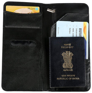 PU Black Passport Holder
