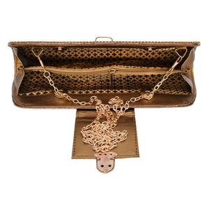 Diamond Studded Party wear Clutch (Dark Gold) - Bagaholics Gift