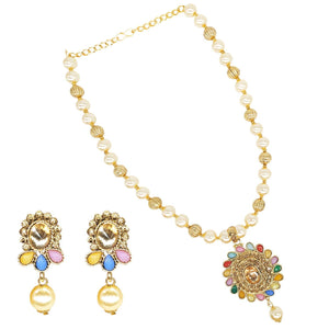 Necklace Set Jewellery set with Earrings - Bagaholics Gift