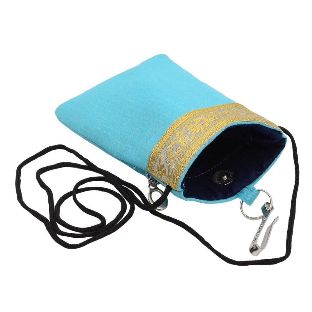 Waist Clip Mobile Pouch  (Turquoise) - Bagaholics Gift