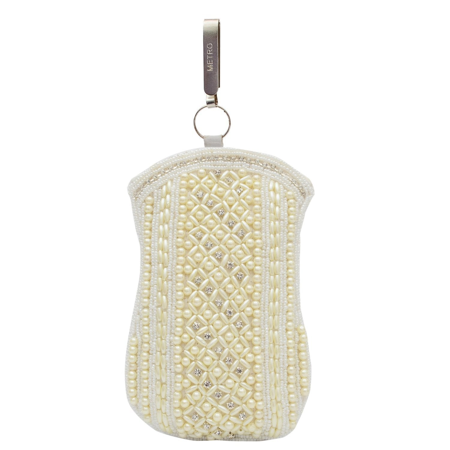 Ethnic Beads & Pearl Clutch Mobile Pouch Waist Clip - Bagaholics Gift