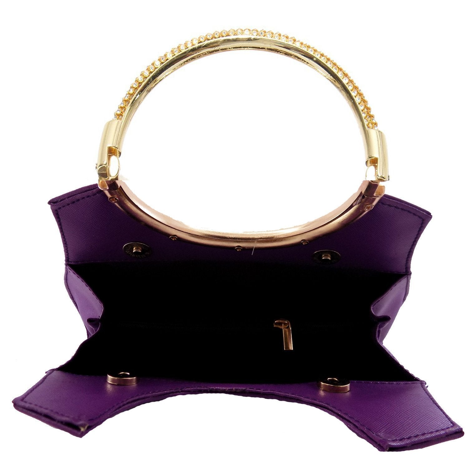 Diamond Studded Party wear Clutch (Purple) - Bagaholics Gift
